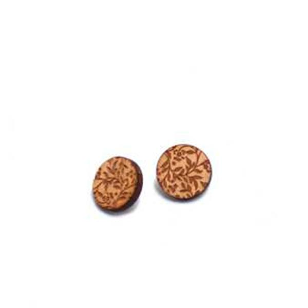 Floral Wood Studs