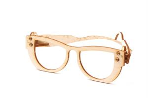 Foldable wooden Glasses Card